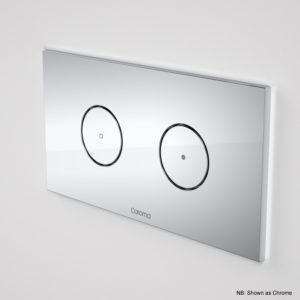 Invisi II Dual Flush Round Plate & Button White