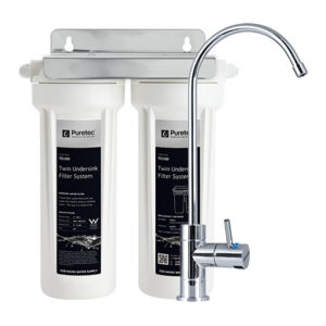 Puretec Dual Filter System w/High Loop Faucet 0.5 Micron