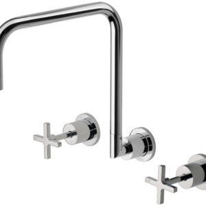 Phoenix Radii Wall Sink Set Chrome