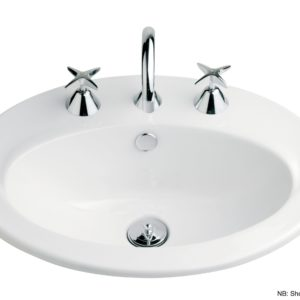 Vincent Vanity Basin 550mm 1th White