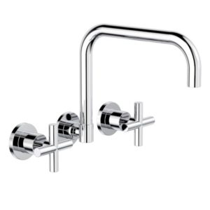Clark Cross Wall Sink Set Chrome